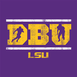 PURPLE LSU Tigers DBU Defensive Back University Shirt