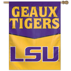 LSU Geaux Tigers Vertical House Flag
