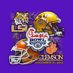 LSU Tigers 2012 Chick Fil A Bowl LSU vs Clemson Tee