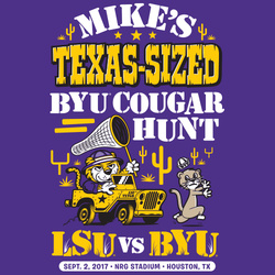 Texas-Sized Cougar Hunt! LSU vs. BYU Official Gameday Shirt
