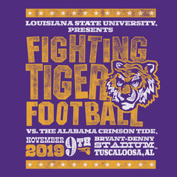 2019 LSU vs. Alabama Gameday T-shirt