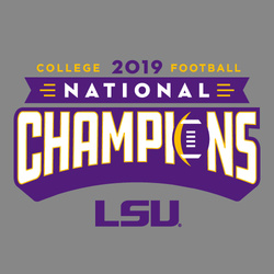 Knockout GREY : 2019 LSU National Champions T-Shirt by Highland & State