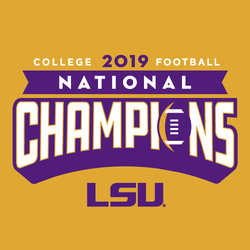 Knockout GOLD: 2019 LSU National Champions T-Shirt by Highland & State