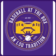 LSU Tigers Purple 'Baseball at the Box' T-Shirt