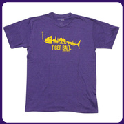 LSU Tigers Purple Tiger Bait T-Shirt