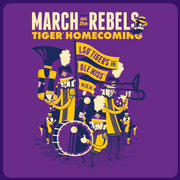 2014 LSU vs Ole Miss Official Homecoming Gameday T-shirt