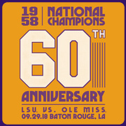 1958 National Champions LSU vs. Ole Miss GOLD GAME T-shirt