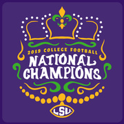 KING of Mardi Gras: 2019 LSU National Champions T-Shirt