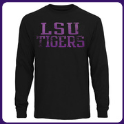 LSU Tigers Straight Out Long Sleeve T-Shirt - Black