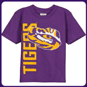 LSU Tigers New Agenda Toddler Go Large T-Shirt - Purple