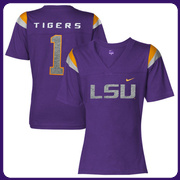 Nike LSU Tigers Youth Girls Football Replica T-Shirt - Purple