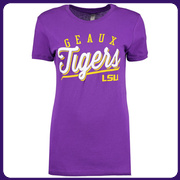 LSU Tigers Women's Simplicity Slim Fit T-Shirt - Purple
