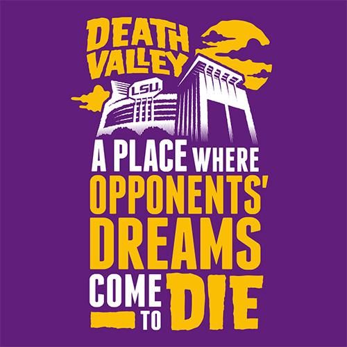 Majestic Louisiana State Tigers No Place Like Death Valley Purple T-Shirt
